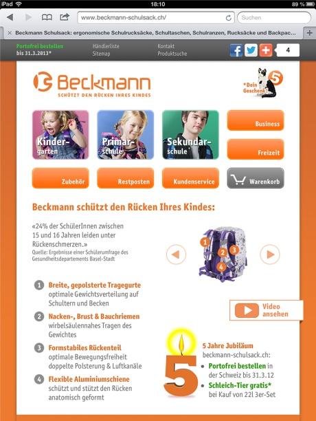 Beckmann Schulsack